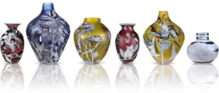 Vases in a row