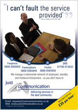 Just Communication Ltd Advert 4