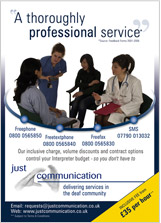 Just Communication Ltd Advert 3