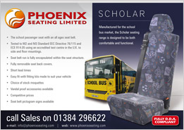 Phoenix Seating Half Page Bus Advert