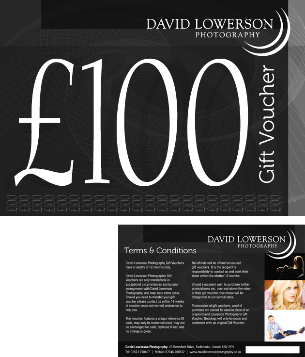 Voucher Design for David Lowerson Photography