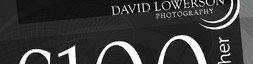 Voucher design for David Lowerson Photography.