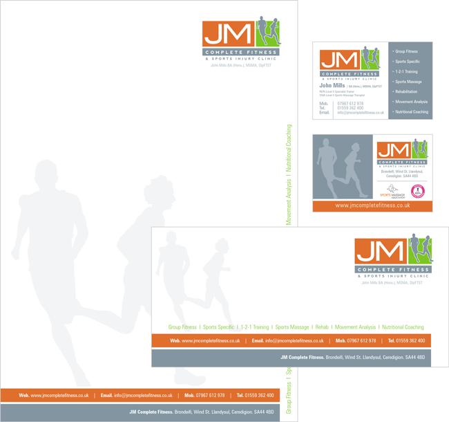 John Mills Fitness Stationery Design