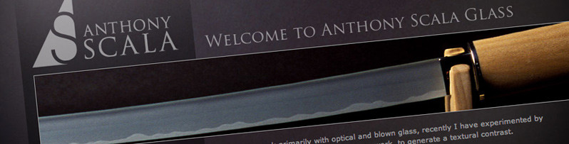 Website design for Glass Artist Anthony Scala
