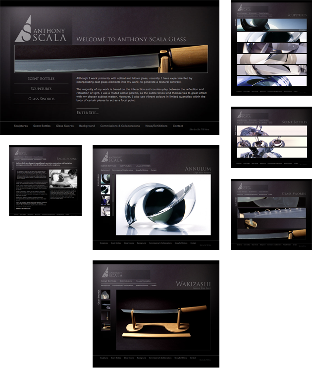 Anthony Scala Glass Website Design