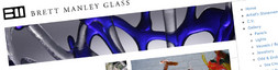 Website design for Brett Manley: Glass Artist