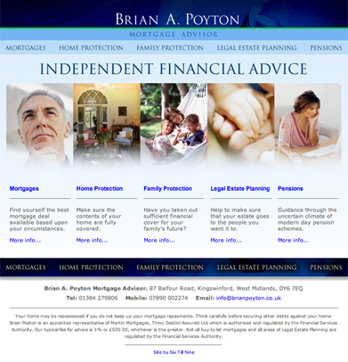 Brian A. Poyton Website Design