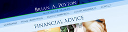 Website & logo design for independent financial advisor Brian A. Poyton.