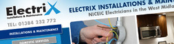 Website design for Electrix Installations