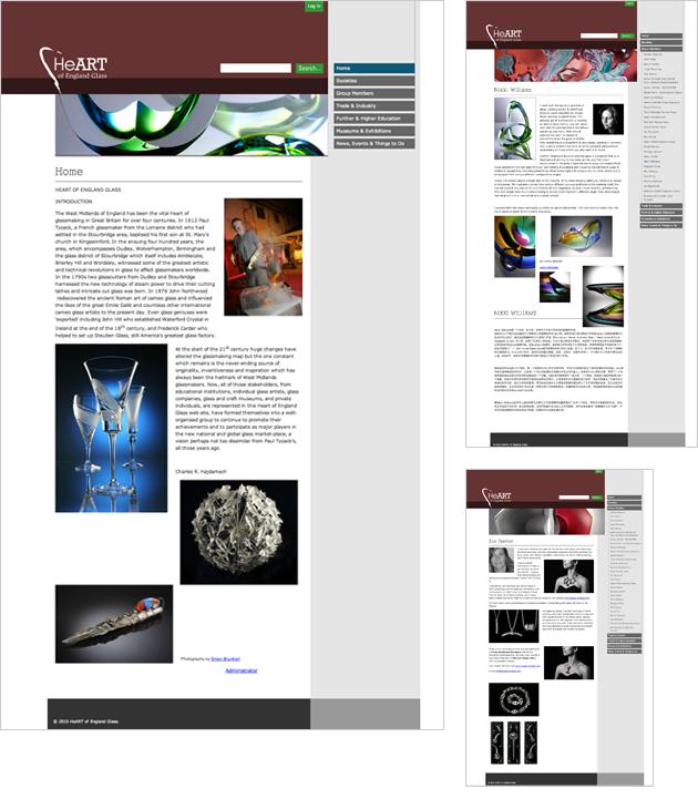 Heart of England Glass Website Design