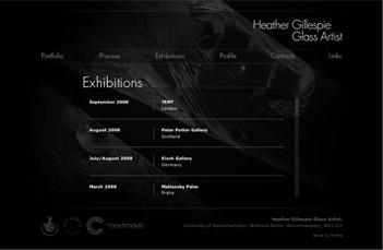 Heather Gillespie Exhibitions