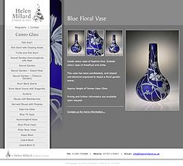 Blue Floral Vase Screen