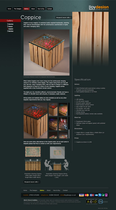 Lloydesign Coppice Page