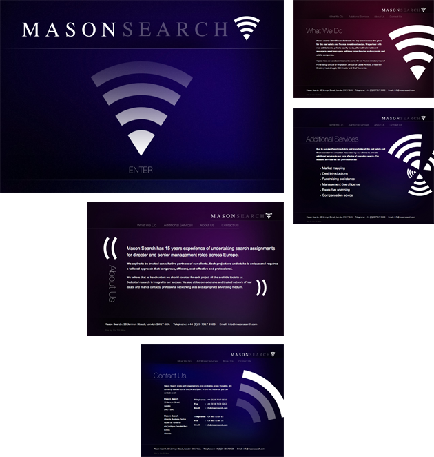 Mason Search Glass Website Design