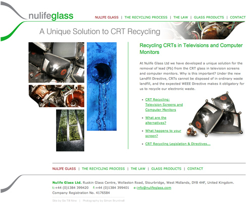 Nulife Glass Homepage