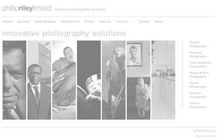 Phillip Riley Website Screen 2