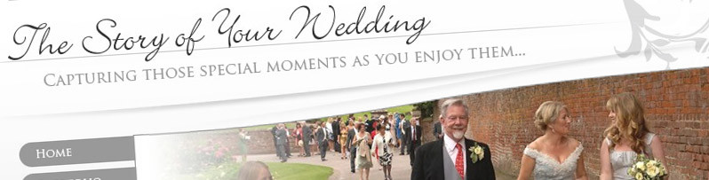 Website design for The Story of Your Wedding