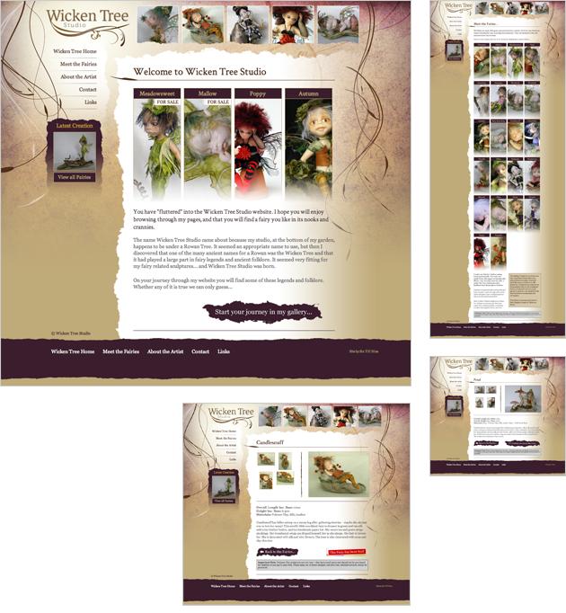Wicken Tree Studio Website Design