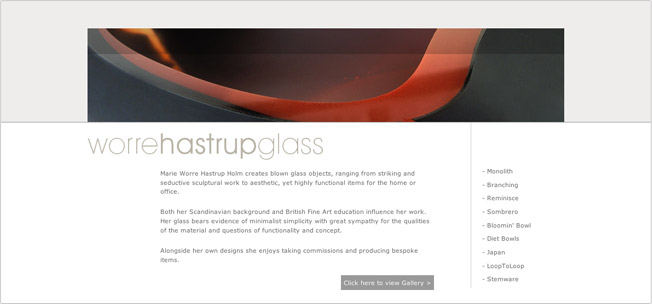 Worre Hastrup Glass Homepage